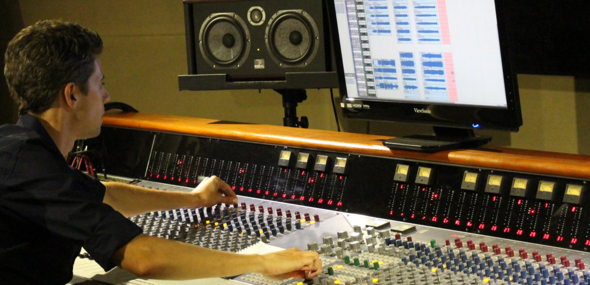 Recording at SAE Institute in Jakarta